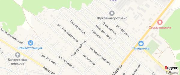 Планерная улица на карте Жуковки с номерами домов