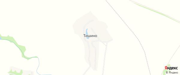 Карта деревни Тишино в Брянской области с улицами и номерами домов