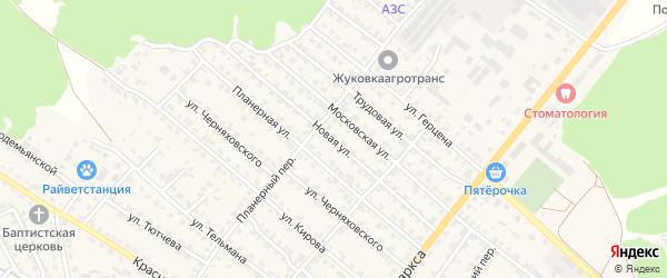 Новая улица на карте Жуковки с номерами домов