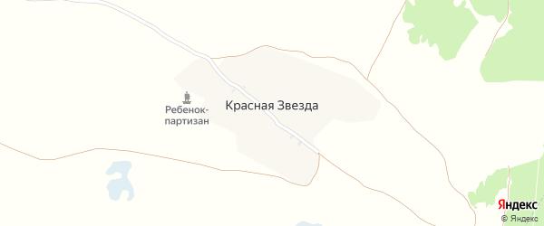 Лесная улица на карте поселка Красной Звезды с номерами домов