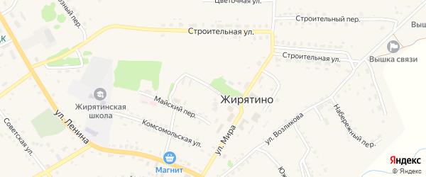 Садовая улица на карте села Жирятино с номерами домов