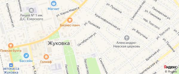 Октябрьская улица на карте Жуковки с номерами домов