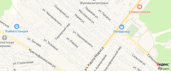 Переулок Кирова на карте Жуковки с номерами домов