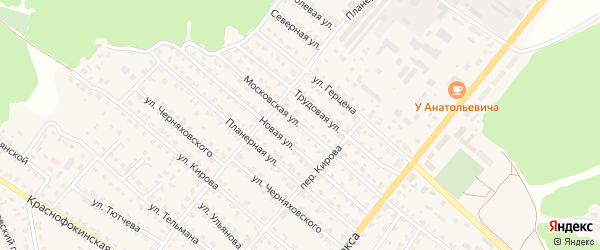 Московская улица на карте Жуковки с номерами домов