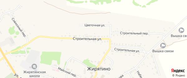 Строительная улица на карте села Жирятино с номерами домов