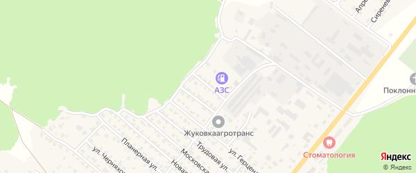 Полевая улица на карте Жуковки с номерами домов