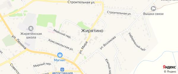 Улица Мира на карте села Жирятино с номерами домов