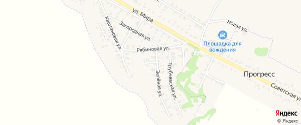 Зеленый переулок на карте Трубчевска с номерами домов