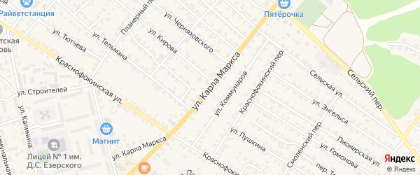 Территория Паи им Карла Маркса на карте территории Крыжинского сельского поселения с номерами домов