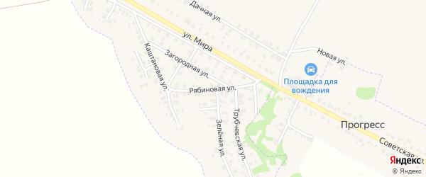 Рябиновая улица на карте Трубчевска с номерами домов