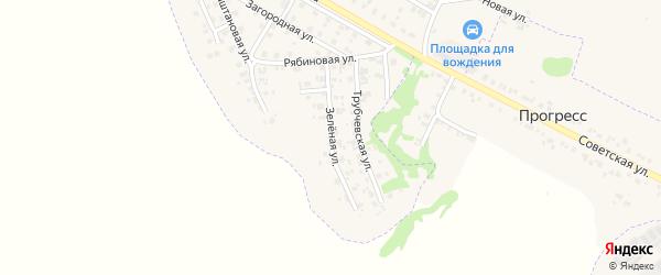 Зеленая улица на карте Трубчевска с номерами домов