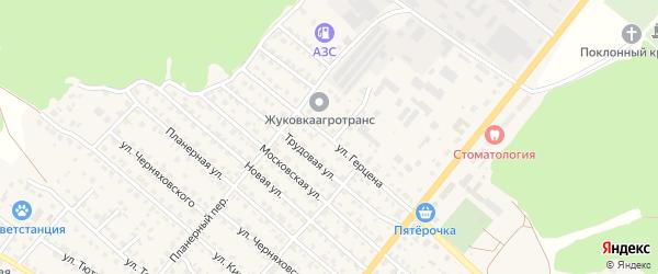 Улица Герцена на карте Жуковки с номерами домов