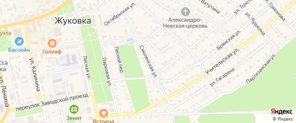 Смоленская улица на карте Жуковки с номерами домов