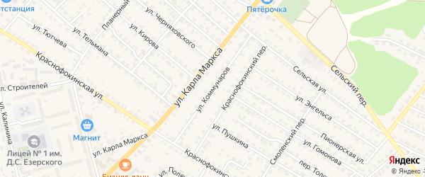 Улица Коммунаров на карте Жуковки с номерами домов
