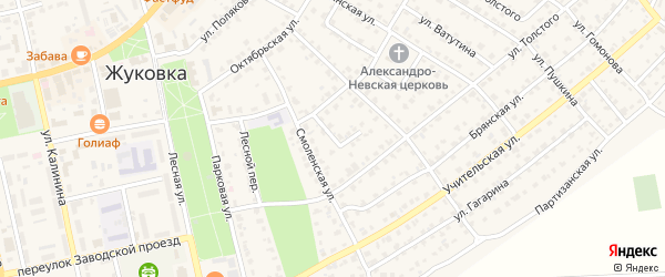 Орловская улица на карте Жуковки с номерами домов