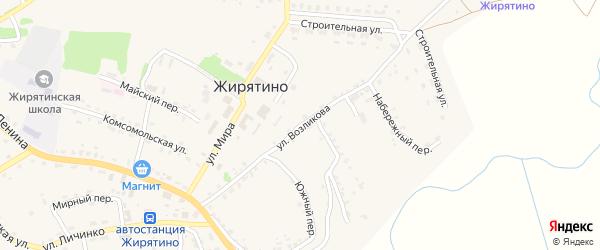 Улица Возликова на карте села Жирятино с номерами домов