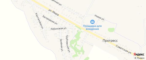 Рябиновый переулок на карте Трубчевска с номерами домов