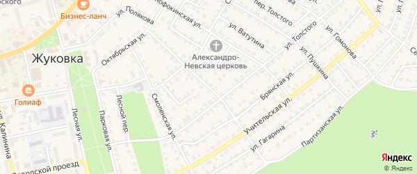 Улица Куйбышева на карте Жуковки с номерами домов