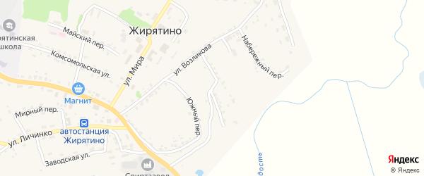 Октябрьский переулок на карте села Жирятино с номерами домов