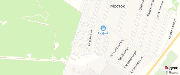 Осенняя улица на карте Жуковки с номерами домов