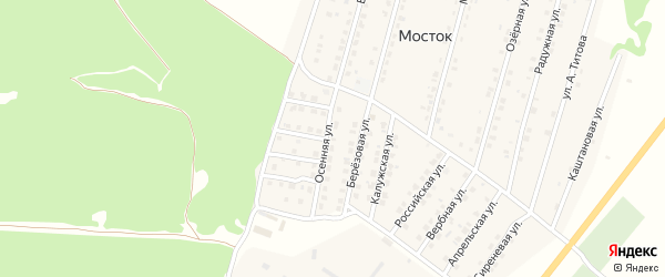 Улица Осенняя проезд 5 на карте Жуковки с номерами домов
