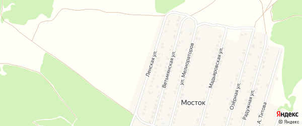 Ленская улица на карте Жуковки с номерами домов