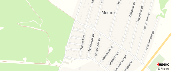 Улица Осенняя проезд 3 на карте Жуковки с номерами домов