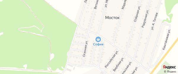 Улица Осенняя проезд 2 на карте Жуковки с номерами домов