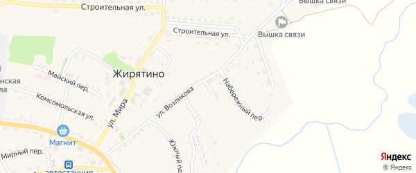 Переулок Возликова на карте села Жирятино с номерами домов