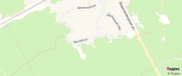 Лесная улица на карте поселка Красного Рога с номерами домов