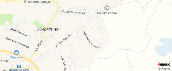 Набережный переулок на карте села Жирятино с номерами домов