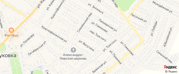 Улица Пушкина на карте Жуковки с номерами домов