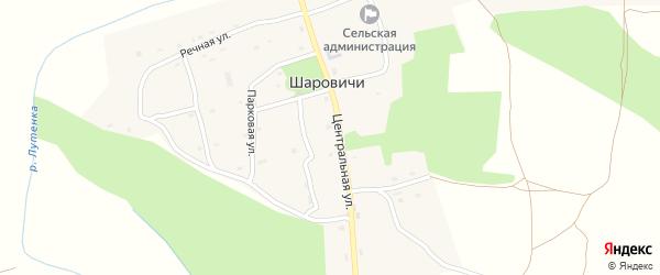 Почтовая улица на карте села Шаровичи с номерами домов