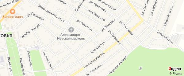 Улица Толстого на карте Жуковки с номерами домов