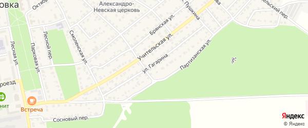 Улица Гагарина на карте Жуковки с номерами домов