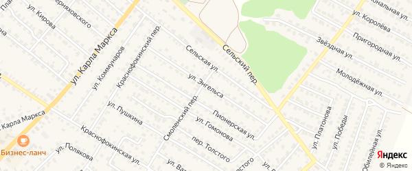 Улица Энгельса на карте Жуковки с номерами домов