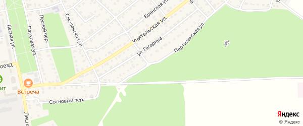 Партизанская улица на карте Жуковки с номерами домов