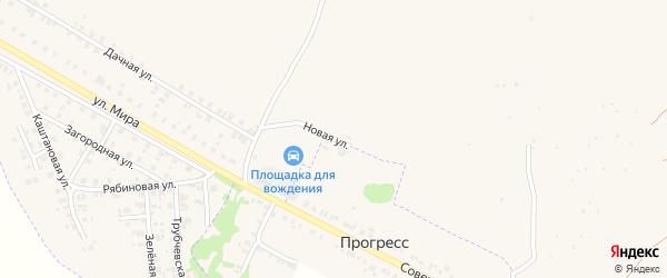 Новая улица на карте поселка Прогресса с номерами домов