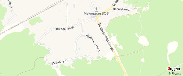 Школьный переулок на карте поселка Красного Рога с номерами домов