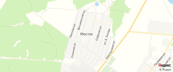 Карта деревни Мостка в Брянской области с улицами и номерами домов