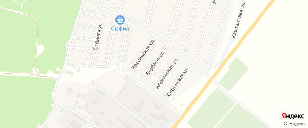 Вербная улица на карте Жуковки с номерами домов