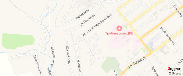 Улица Веры Крысиной на карте Трубчевска с номерами домов