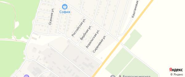 Апрельская улица на карте Жуковки с номерами домов