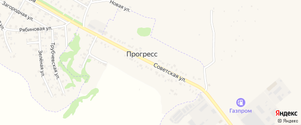 Советская улица на карте поселка Прогресса с номерами домов
