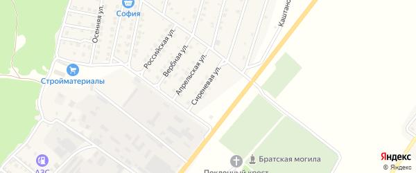 Сиреневая улица на карте Жуковки с номерами домов