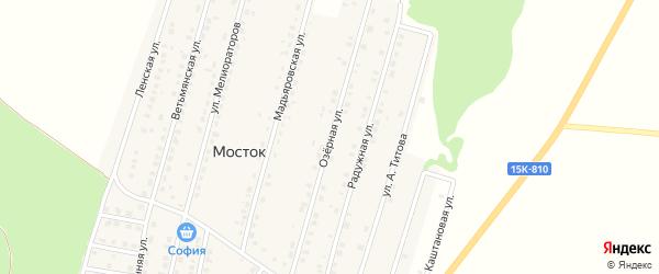 Озерная улица на карте Жуковки с номерами домов
