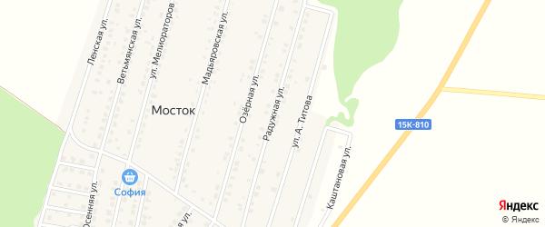 Радужная улица на карте Жуковки с номерами домов