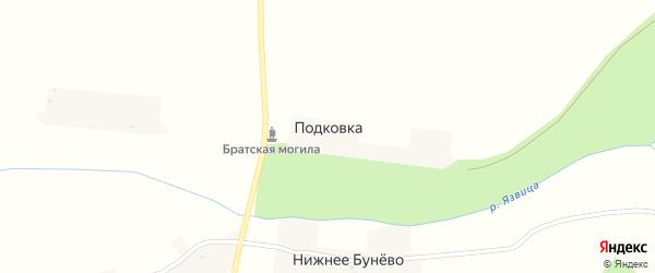 Улица Победы на карте деревни Подковки с номерами домов