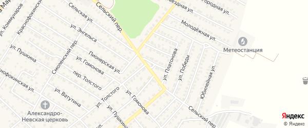 Цветочная улица на карте Жуковки с номерами домов