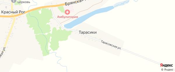 Тарасовская улица на карте поселка Тарасики с номерами домов